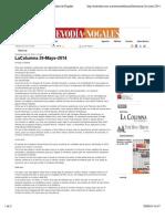 LaColumna 26-Mayo-2014 | Nuevo Dia - Periodico de Nogales