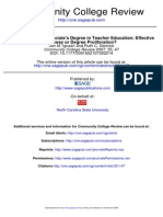 The Specialized Associate's Degree in Teacher Education