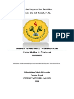 Makalah Pengantar Ilmu Pendidikan - Aspek Spiritual Pendidikan.pdf