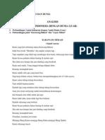 Analisis Puisi Indo Dan Dunia