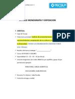 Detalle Monografía y Exposicion
