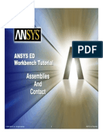 ANSYS 10.0 Workbench Tutorial - Exercise 5, Assemblies and Contact