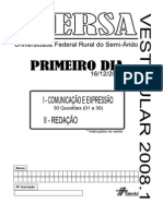 Ufersa20081 Primeiro Dia Prova