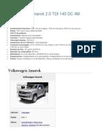 Volkswagen Amarok Datos
