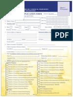 Admission Form Fall 2014