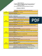 Schedule Amec III