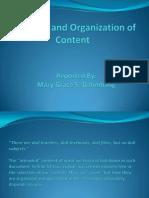 Selection and Organization of Content Dalimbang