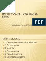 Raport Clasare – Buzdugan de Lupta
