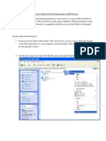 Tutorial - Convert Microsoft Word Documents to RTF
