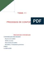 procesos conformado