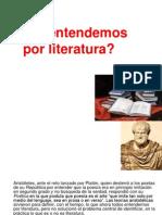 A. Qué Entendemos Por Literatura