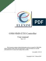 Gsm Sms Eth Controller