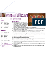 Whimisical Fall Placemats