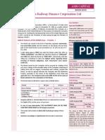IRFC -Tax Free Bonds - Jan 14 - Product Note
