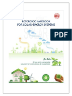 Reference Handbook on solar energy systems.