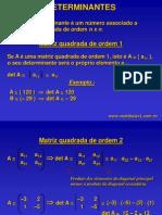 Determinantes Sistemas Lineares