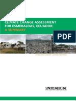 Climate Change Assessment for Esmeraldas, Ecquador