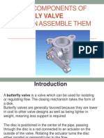 Create Components ofBUTTERFLY VALVEand then Assemble them