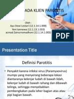 Askep Pada Klien Parotitis