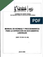 Manual de Normas y Procedimientos para la Expedición Documentos Laborales de la PGJDF.pdf
