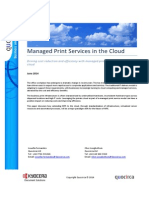 Managed Print Services in the Cloud