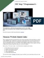 Siemens Simatic Step 7 Programmers Handbook