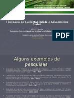 I Simpósio de Sustentabilidade e aquecimento global - UNICAMP 22-10-08