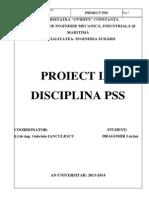 Proiect PSS Lucian Dragomir