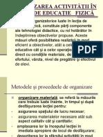 Organizarea Activităţii În Lecţia de Educaţie Fizică