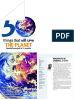 50 cose che salveranno il pianeta