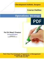 Operations Strategy (Prof. Manoj Srivastava)