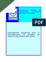 Lineamientos Generales para la Dictaminación en Materia de Medicina del Trabajo del ISSSTE.pdf