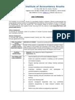 Job Advertisement - June 20143