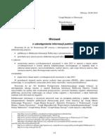Wniosek o Udostępnienie Informacji Publicznej 20 06 2014