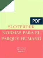 Sloterdijk, Peter - Normas Para El Parque Humano [1999].pdf