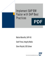 Implement SAP BW Faster With SAP Best Practices for Business Intelligence