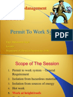 Permit to Work (PTW)