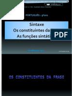 Constituintes Da Frase - Funções Sintáticas