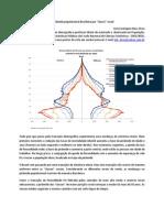 """A pirâmide populacional brasileira por """"classe"""" social"""