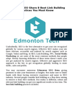 Edmonton SEO Share 8 Best Link Building Practices You Must Know