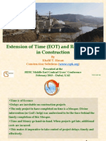 FIDIC Lecture - EOT & Related Costs in Construction (1)