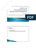 ACCG 250 Accounting System Design and Development