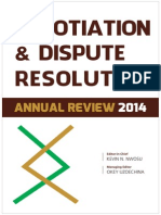 Negotiation & Dispute Resolution Annual Review 2014
