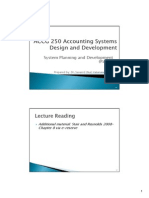 Accounting System Design and Development - System Planning and Development