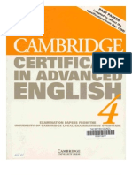 Cambridge certificate of profeciency in english 4
