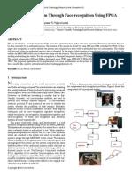 Anti Theft Mechanism Through Face Recognition Using FPGA
