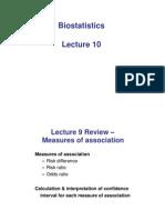 Biostatistics-Measures of Association