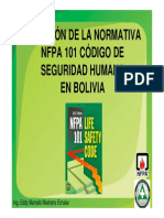 Adopcion NFPA 101 Bolivia