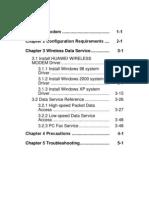 ETS1000 Series FWT Data Service User Manual