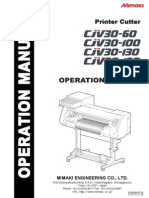 Mimaki CJV30-60 Operations manual